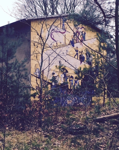 socialist wall painting Bogensee