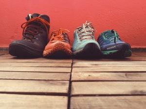 Hiking shoes comparison